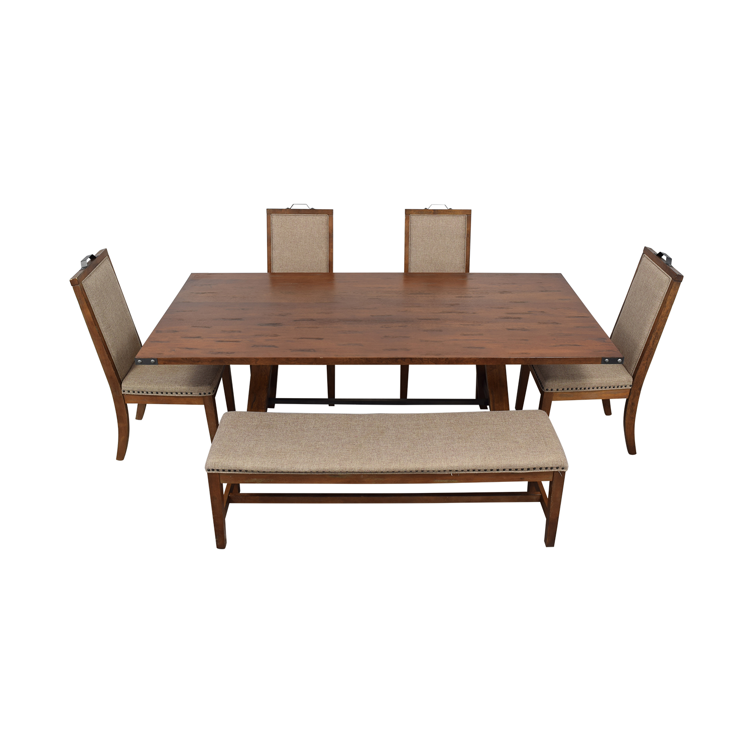 Coaster Fine Furniture Coaster Fine Furniture Wood Dining Set with Upholstered Bench and Chairs Dining Sets