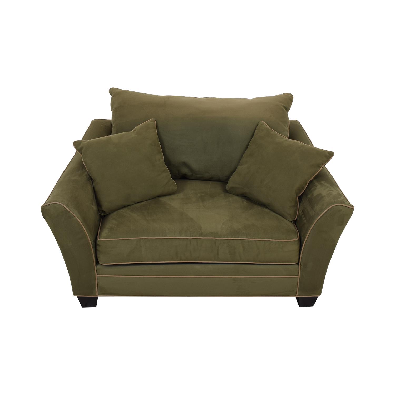Raymour & Flanigan Raymour & Flanigan Briarwood Brown Chair and a Half nj