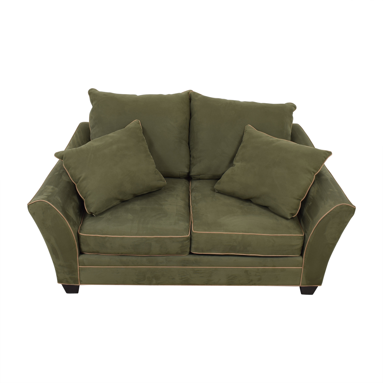 shop Raymour & Flanigan Briarwood Brown Two-Cushion Loveseat Raymour & Flanigan