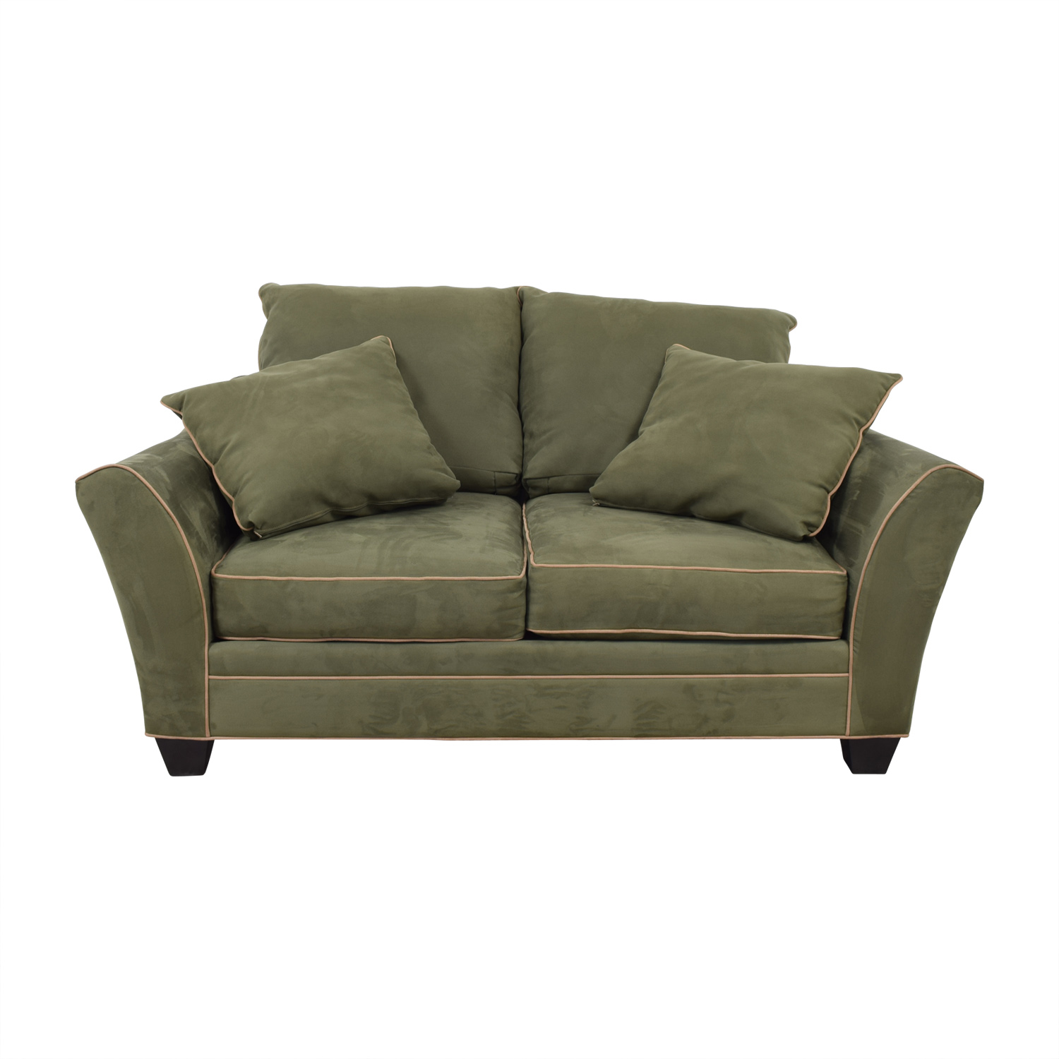 Raymour & Flanigan Raymour & Flanigan Briarwood Brown Two-Cushion Loveseat dimensions