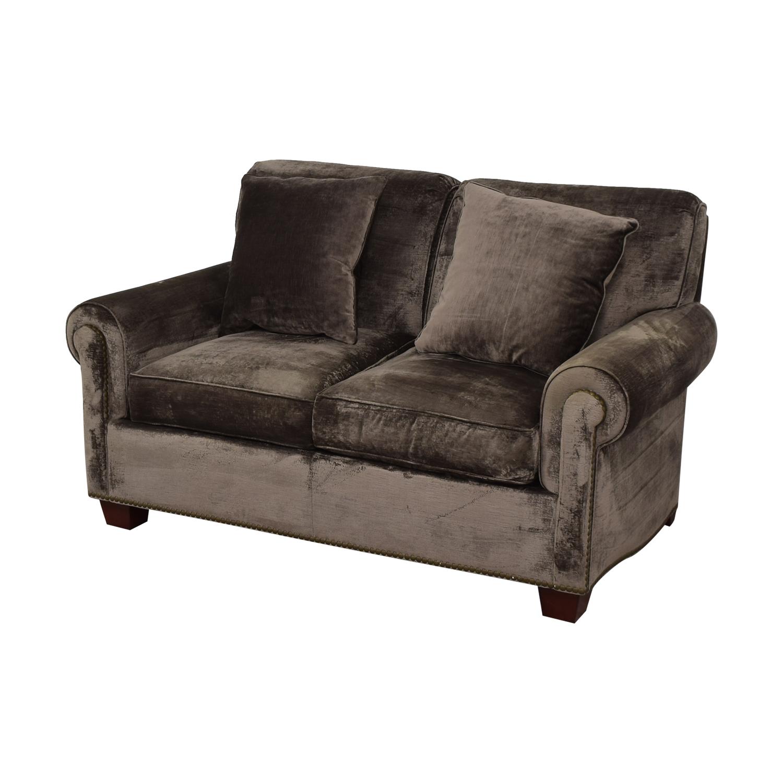 Two Cushion Nailhead Loveseat sale