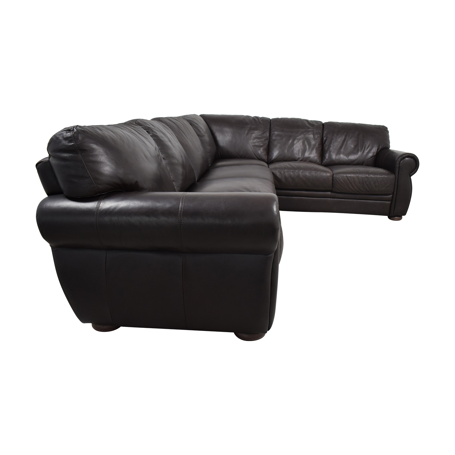 Chateau d'Ax Chateau D'Ax Marsala Brown L-Shaped Sectional dimensions