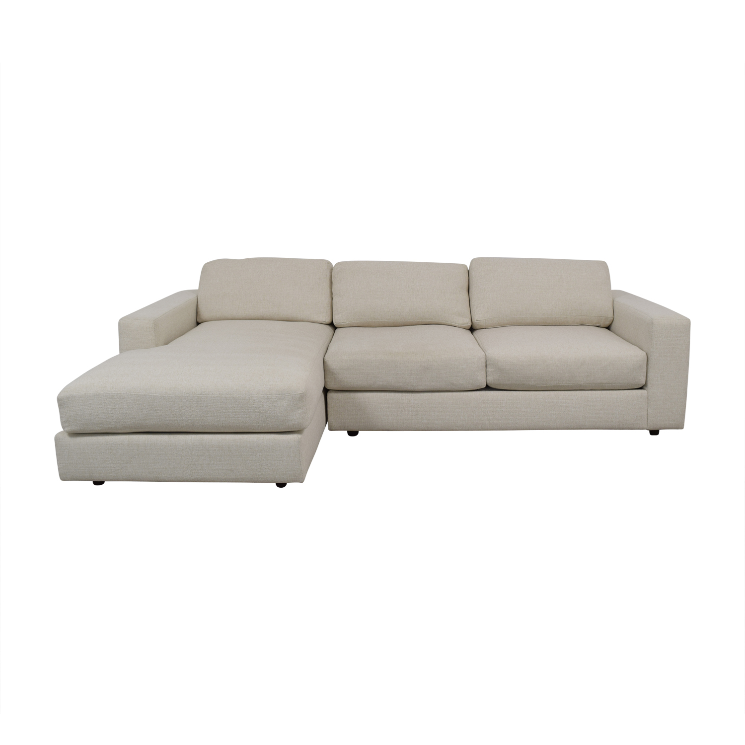 shop West Elm Urban White Chaise Sectional West Elm Sectionals