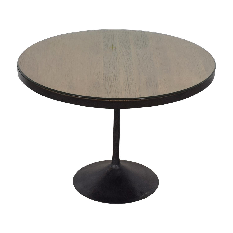 66 Off Restoration Hardware Aero Round Dining Table Tables