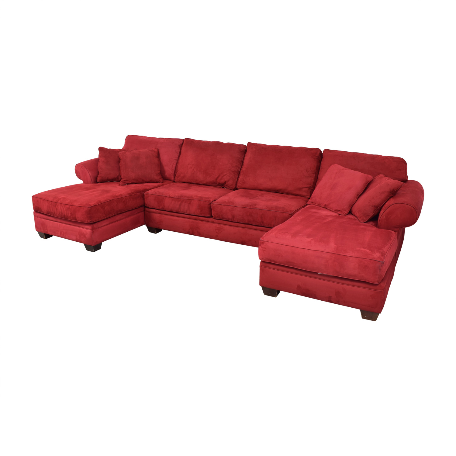 85 Off Macy S Macy S U Shaped Red Double Chaise