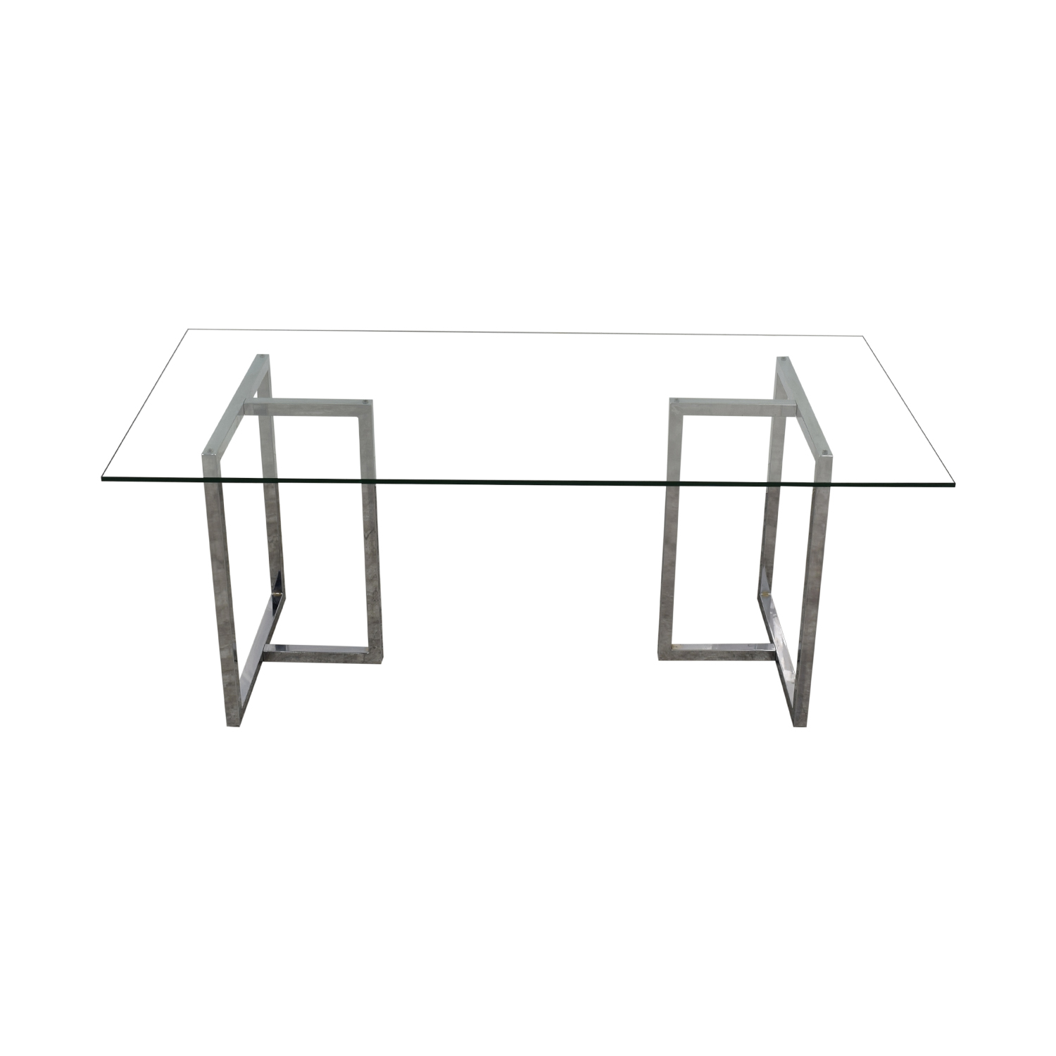 CB2 CB2 Glass and Chrome Table