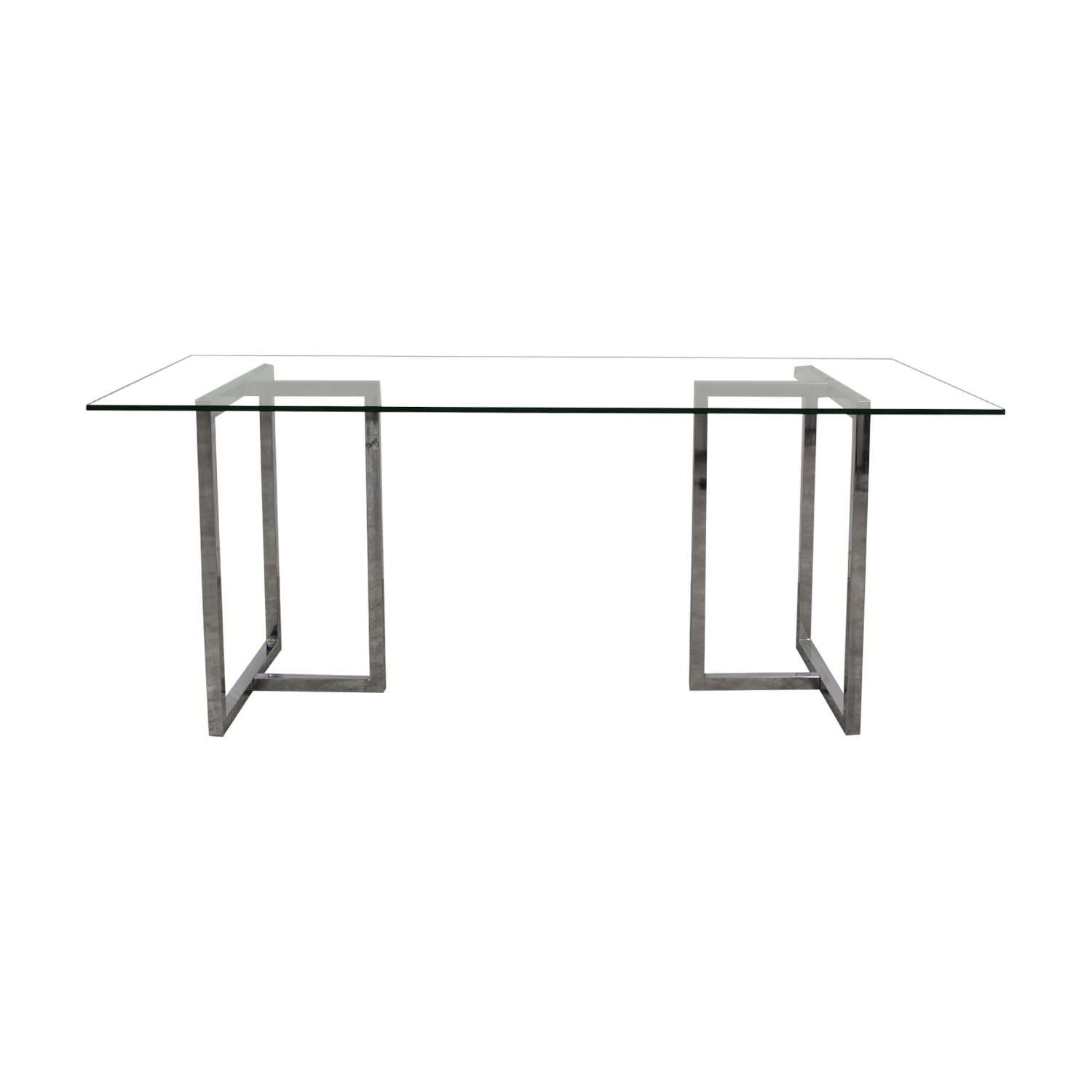 CB2 Glass and Chrome Table CB2