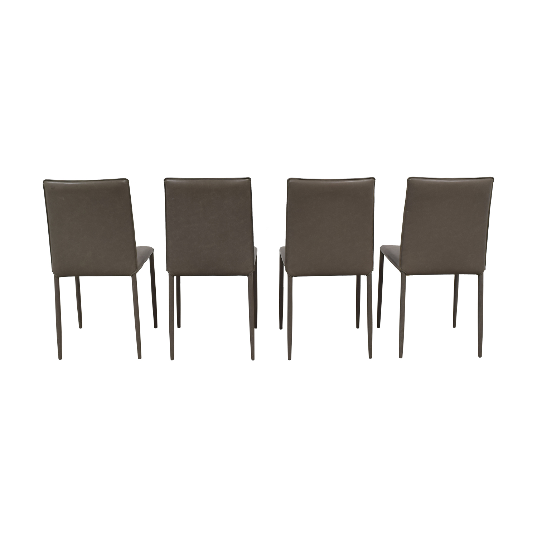 Safavieh Safavieh Grey Leather Chairs discount