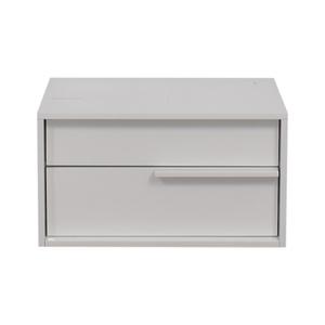 Modloft Modloft White Two-Drawer Night Stand dimensions