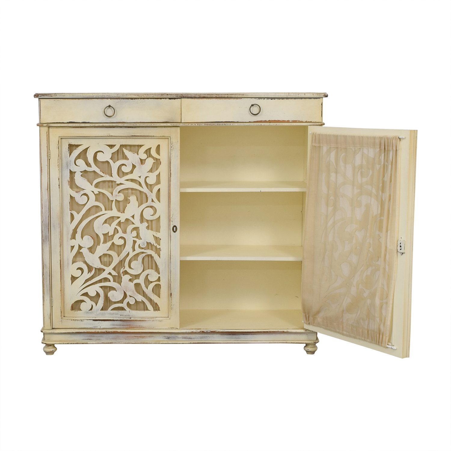 buy Buying & Design Antique Distressed White Cabinet Buying & Design Cabinets & Sideboards