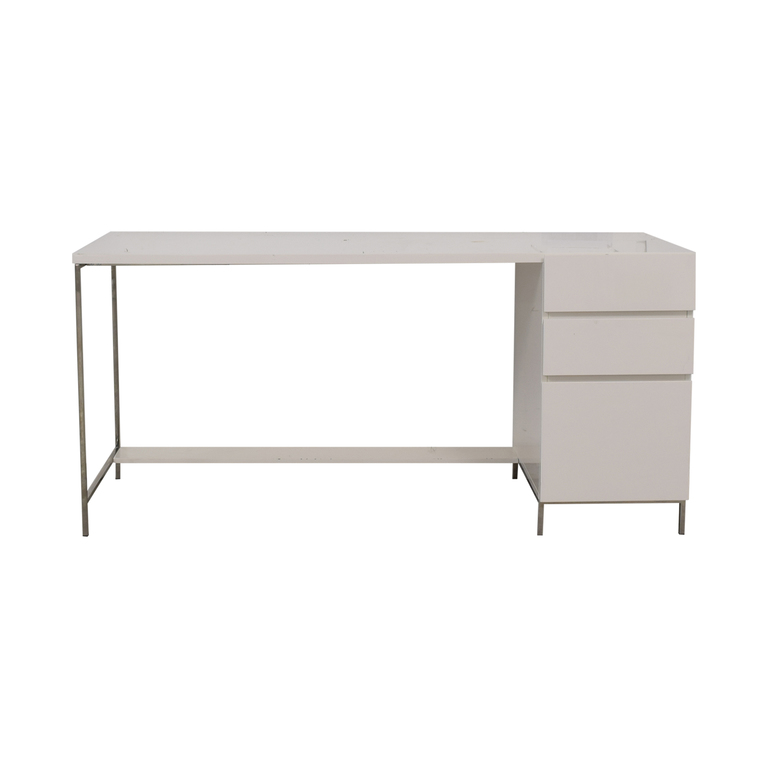 West Elm West Elm White Three-Drawer Desk coupon