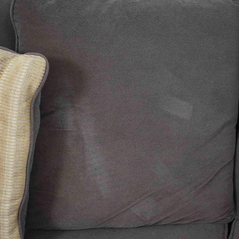 Raymour & Flanigan Raymour & Flanigan Kathy Ireland Brown Two-Cushion Sofa for sale