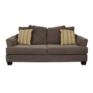 Raymour & Flanigan Raymour & Flanigan Kathy Ireland Brown Two-Cushion Sofa Sofas