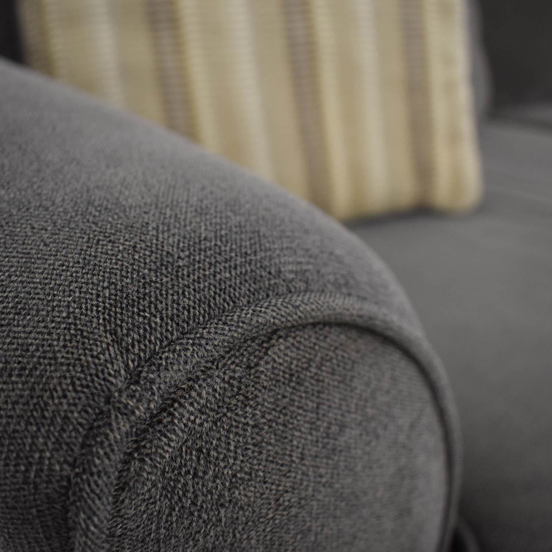 Raymour & Flanigan Kathy Ireland Brown Two-Cushion Sofa sale