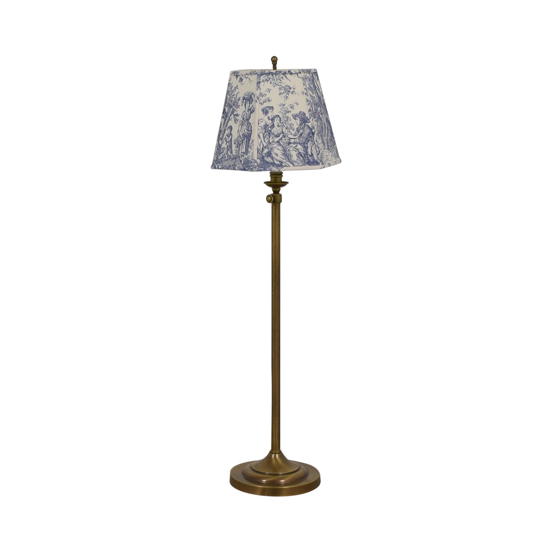 Tapestry Linen Shade Brass Floor Lamp price