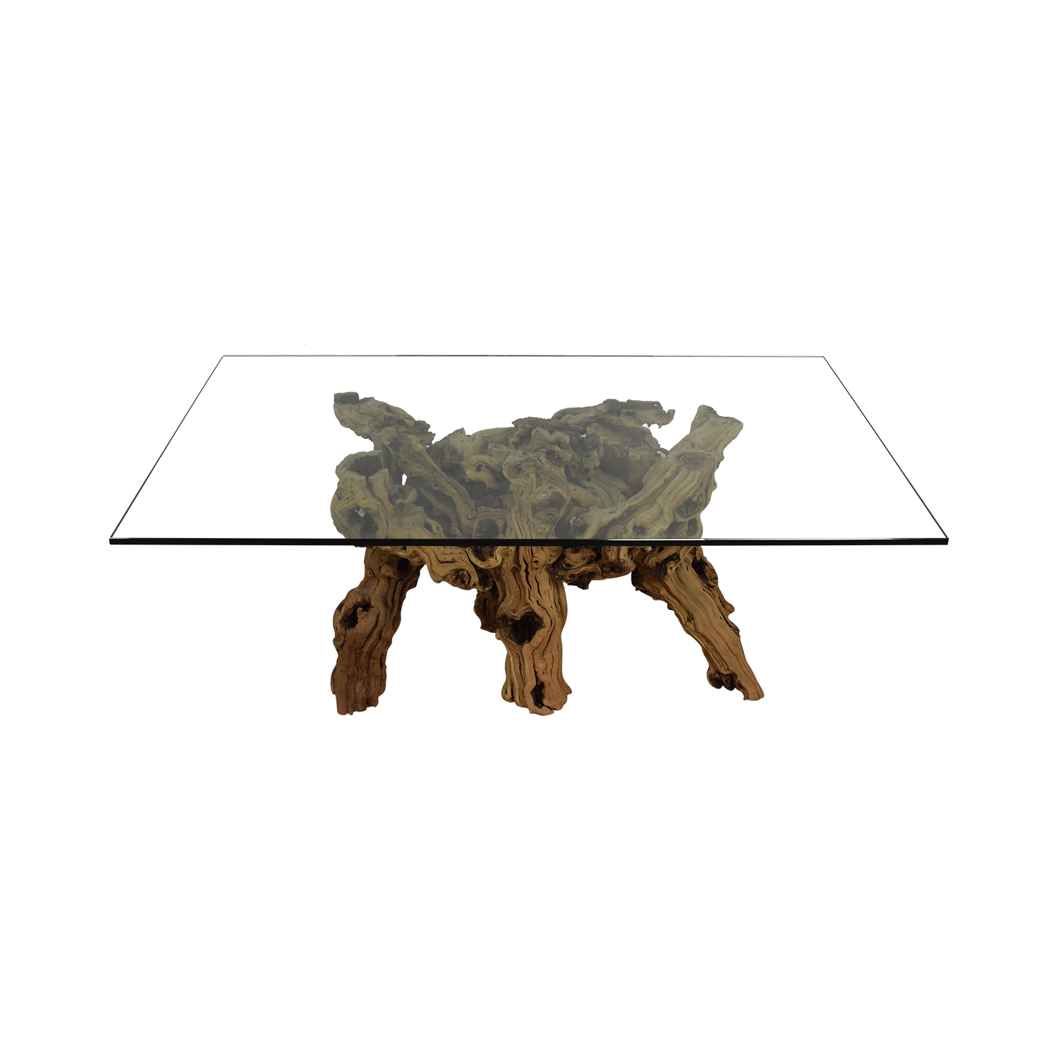 shop Jayson Home Jayson Home Glass and Natural Wood Dining Table online