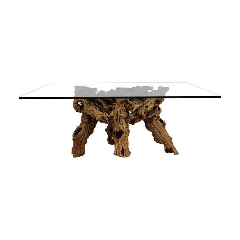 Jayson Home Jayson Home Glass and Natural Wood Dining Table dimensions
