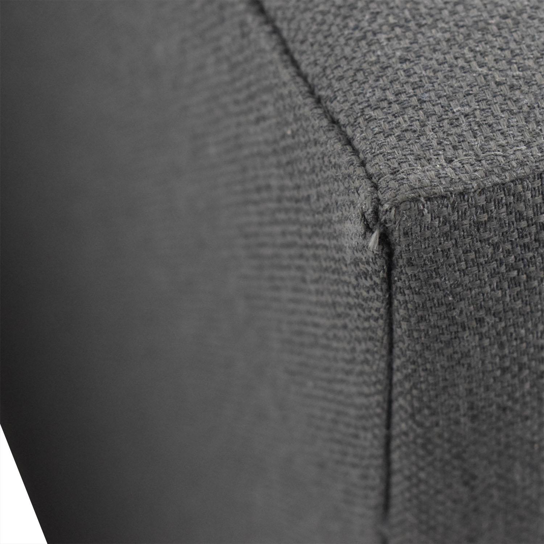 Crate & Barrel Crate & Barrel Tate Grey Upholstered Platform Queen Bed Frame price