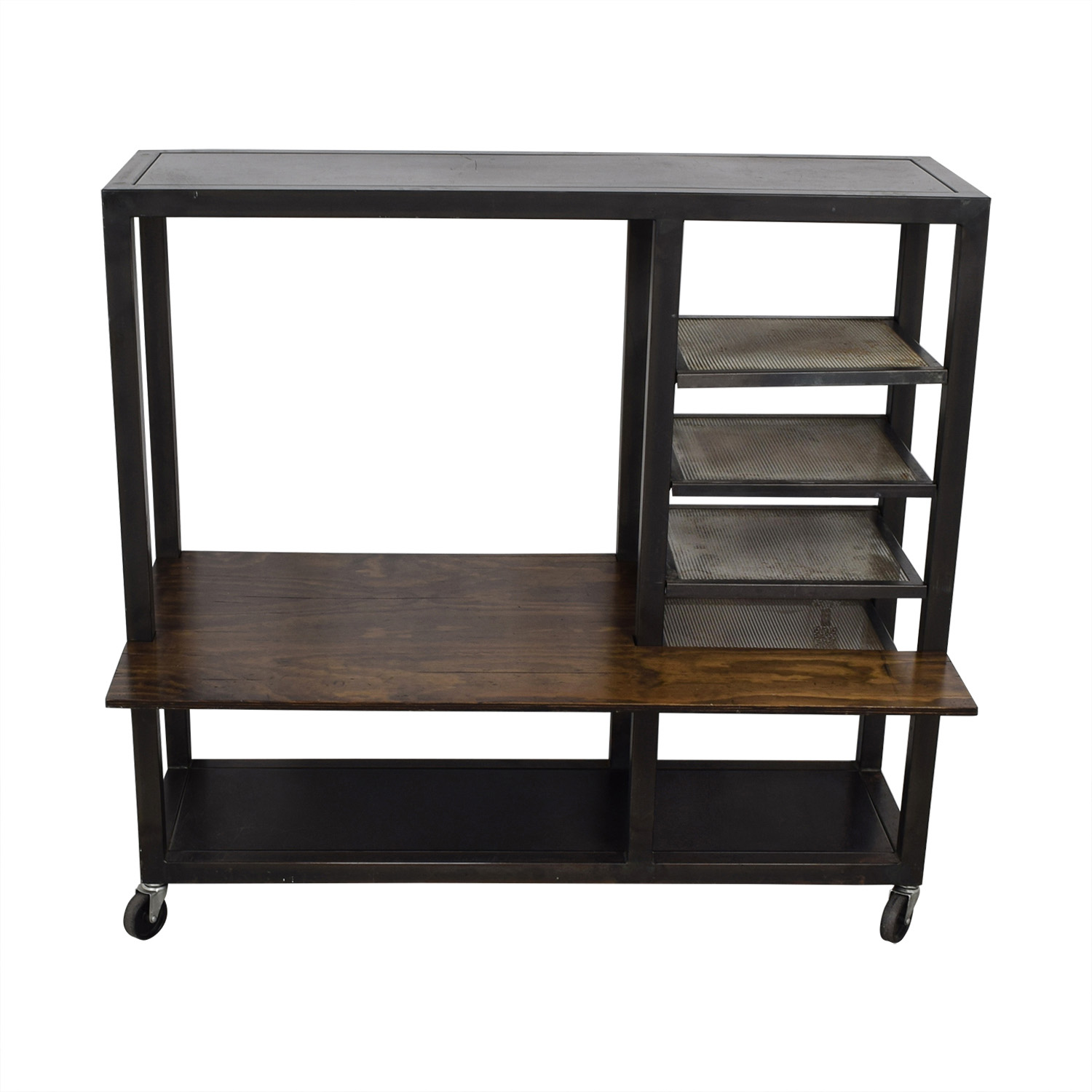 Industrial Reclaimed Wood Desk and Shelves