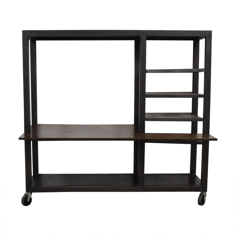 Industrial Reclaimed Wood Desk and Shelves nj
