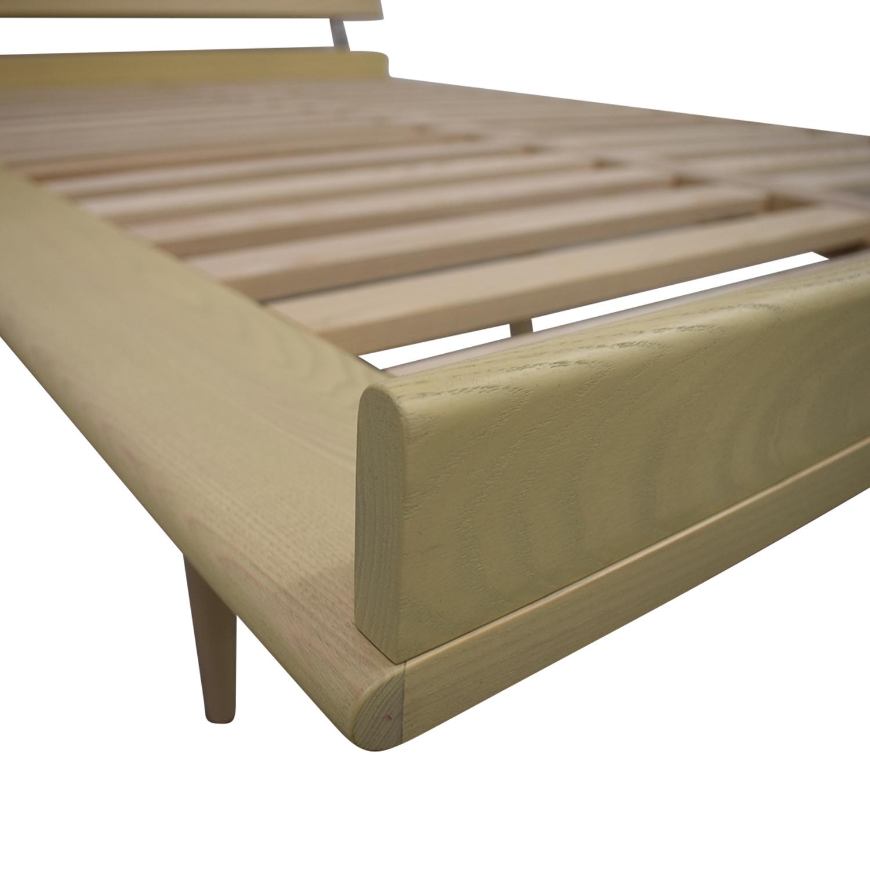 shop Design Within Reach Nelson Ash Thin Edge Platform Full Bed Frame Design Within Reach