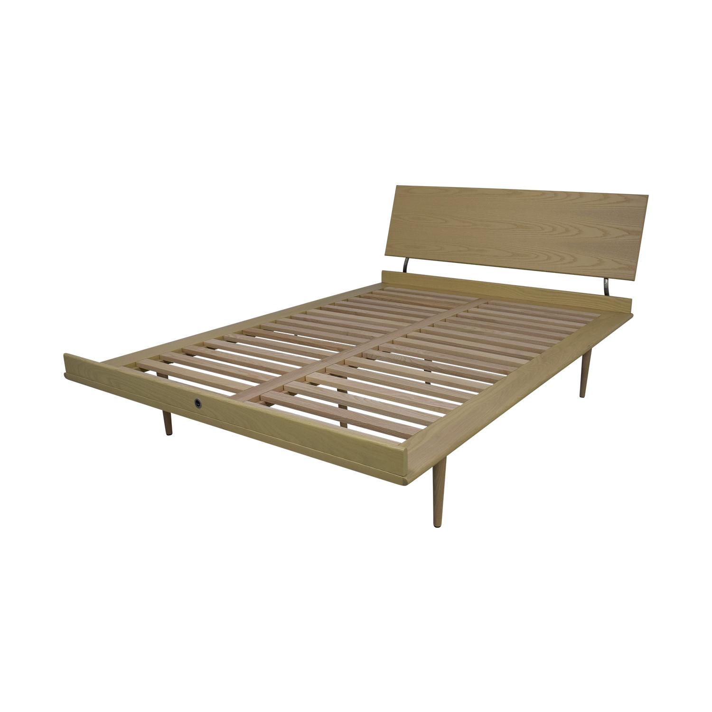 Design Within Reach Nelson Ash Thin Edge Platform Full Bed Frame Design Within Reach