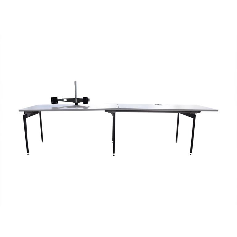 shop Knoll Antenna White Medium Workstation Desk Knoll