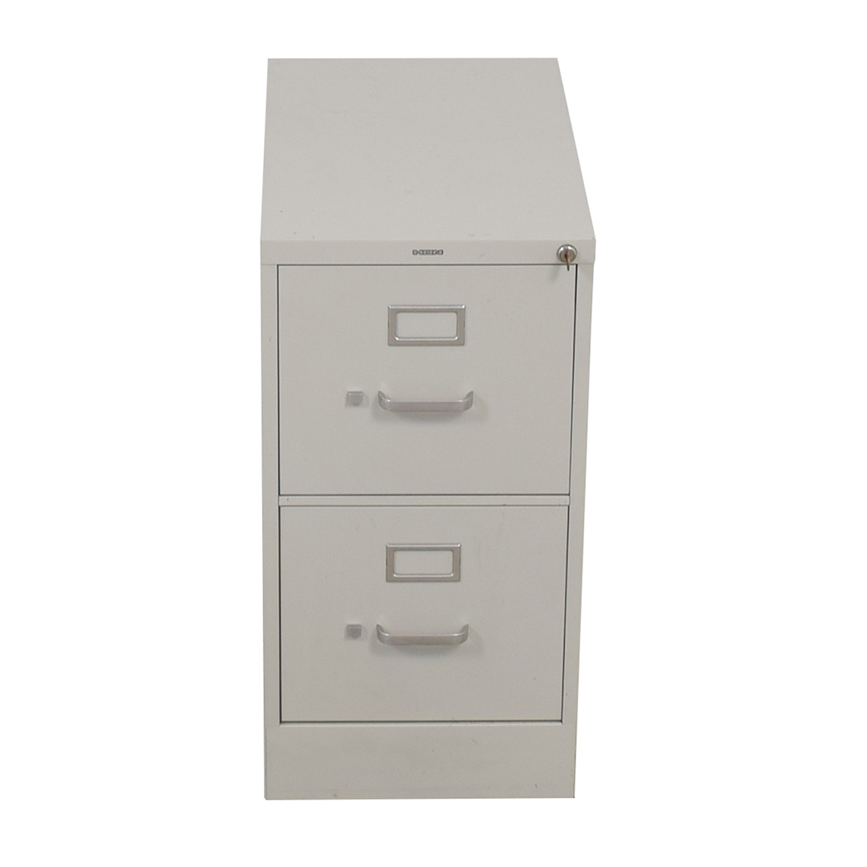 Hon HON Vertical Beige Two-Drawer File Cabinet