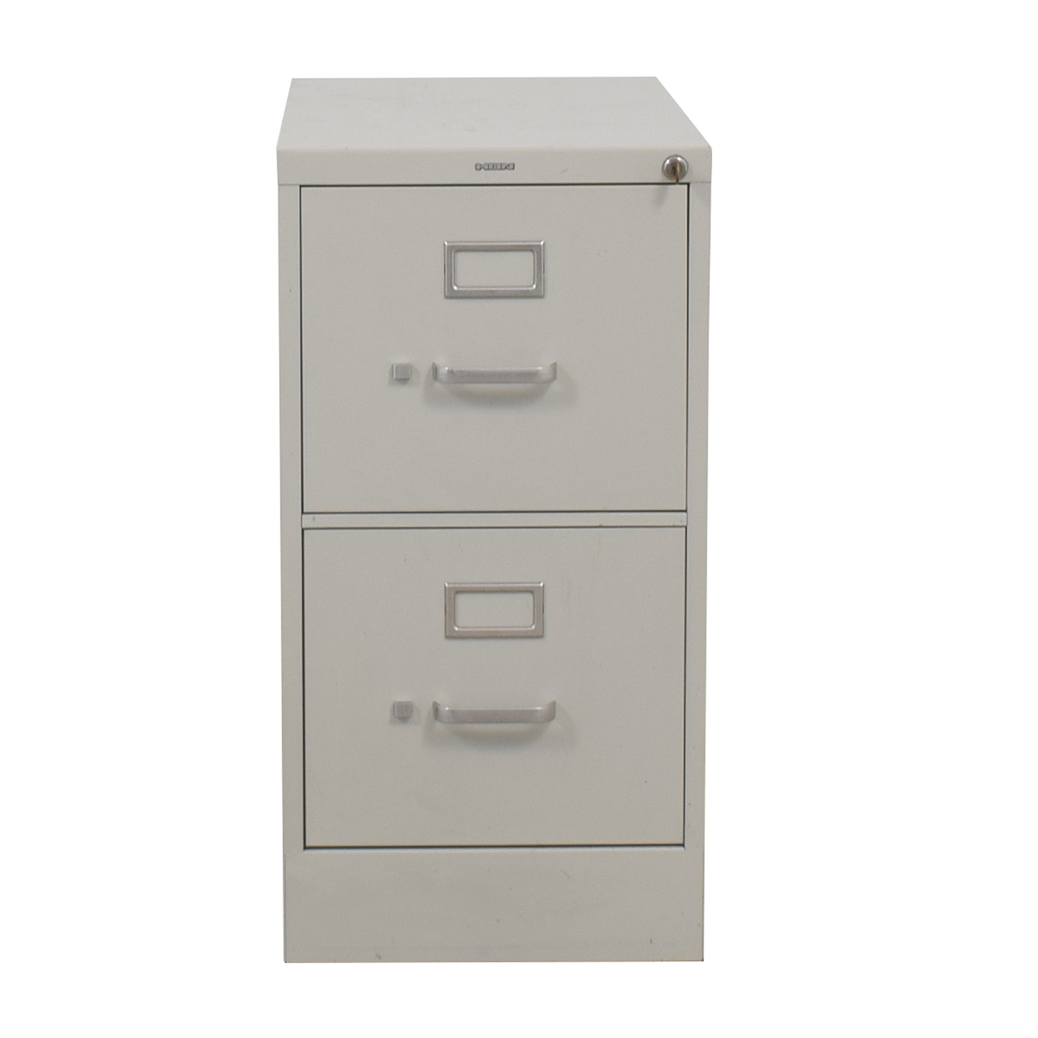 HON HON Vertical Beige Two-Drawer File Cabinet second hand