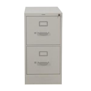 HON Vertical Beige Two-Drawer File Cabinet sale