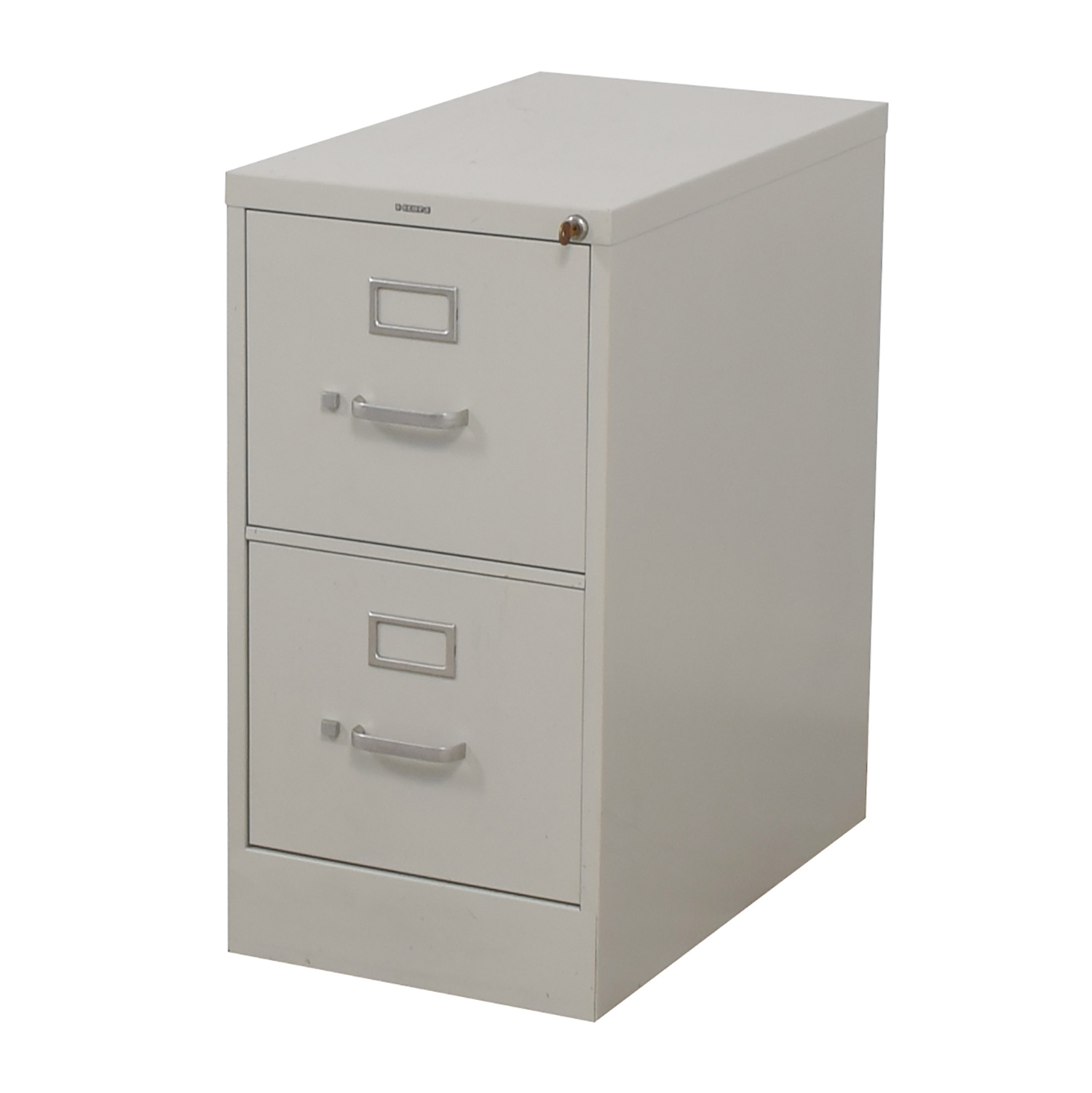 Hon HON Vertical Beige Two-Drawer File Cabinet used