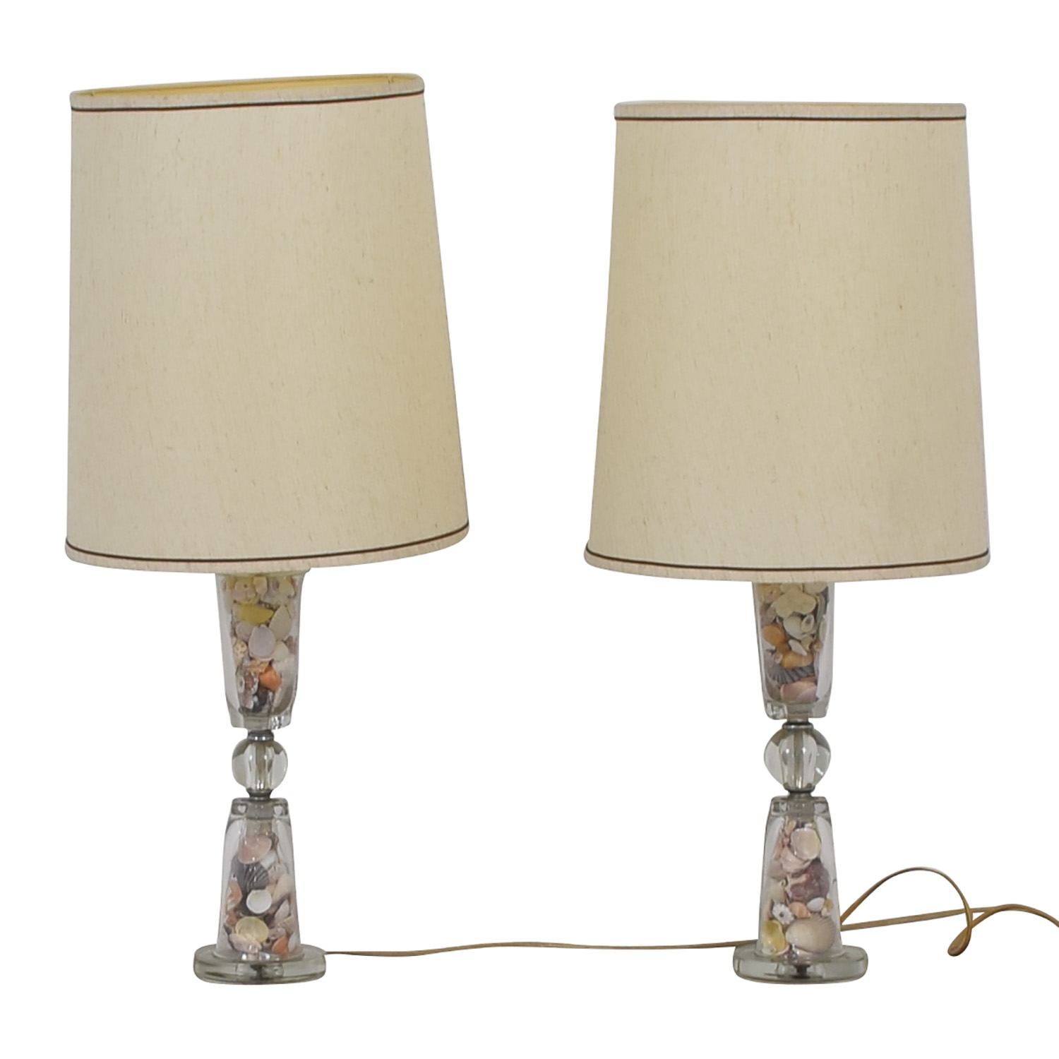 Seashell-Filled Glass Table Lamps on sale
