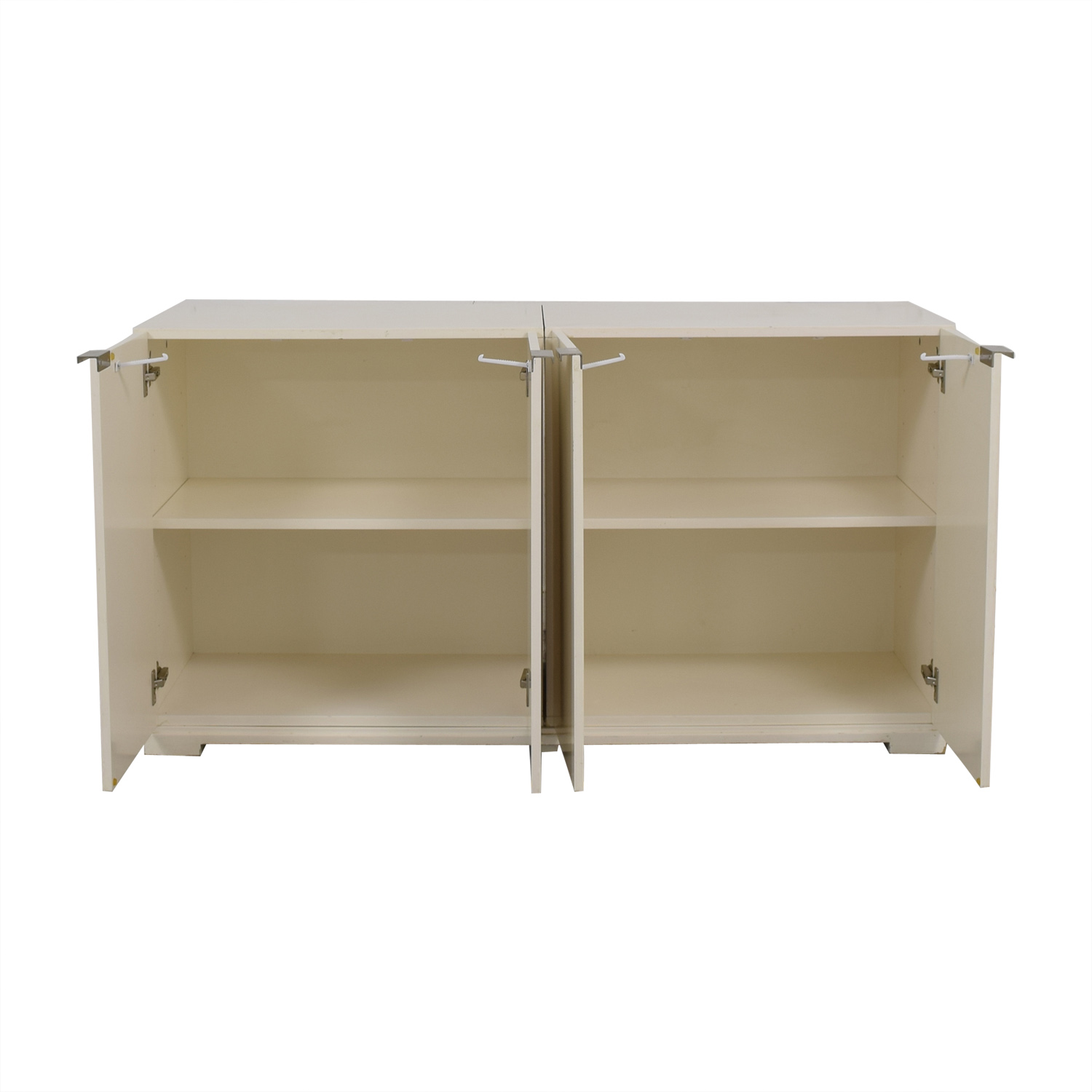 West Elm West Elm White Four-Door Buffet Storage