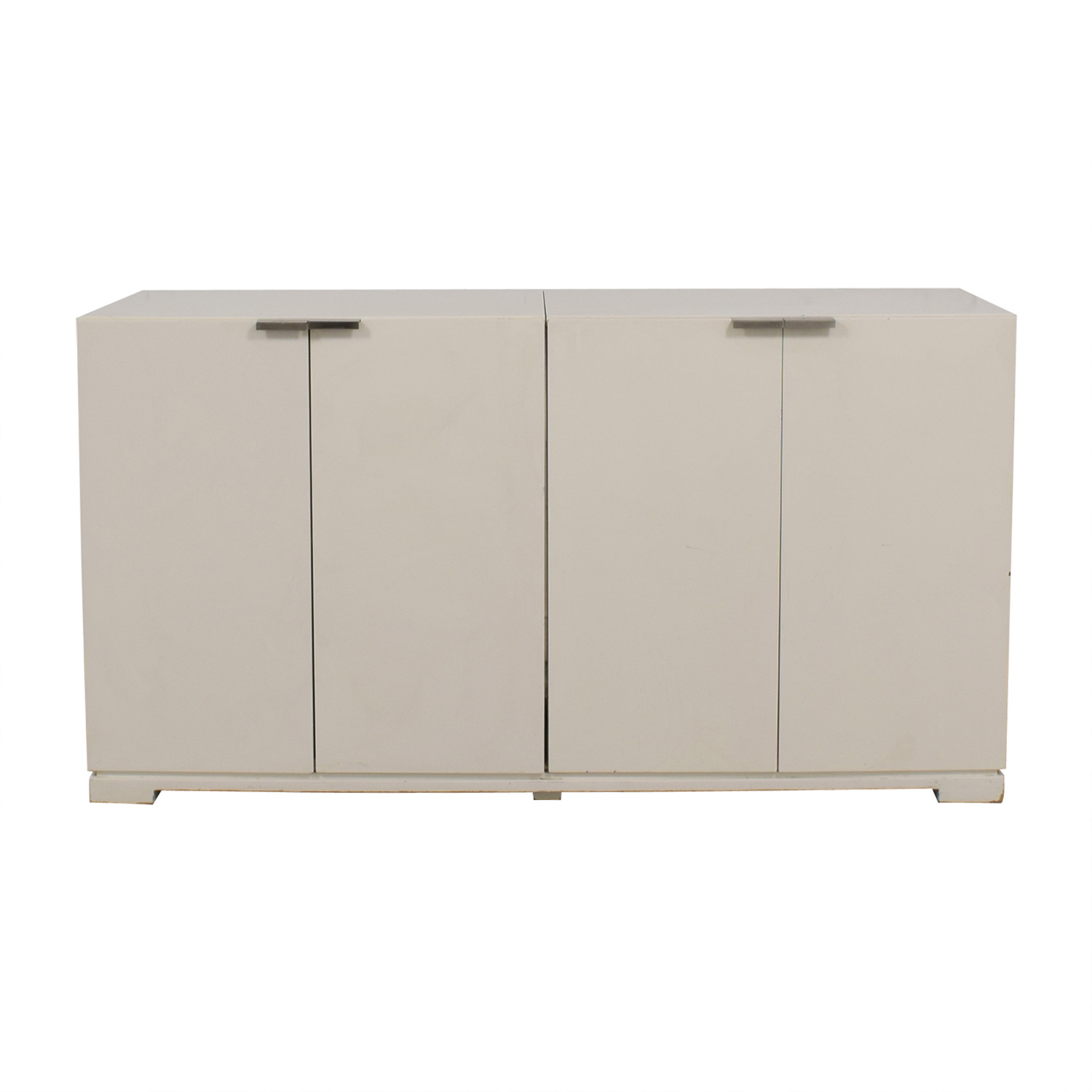 West Elm West Elm White Four-Door Buffet price