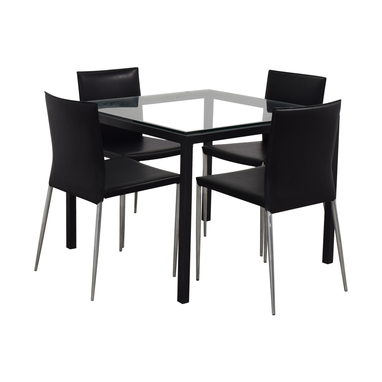 Room & Board Parsons Dining Set with Hirsch Leather Chair Room & Board