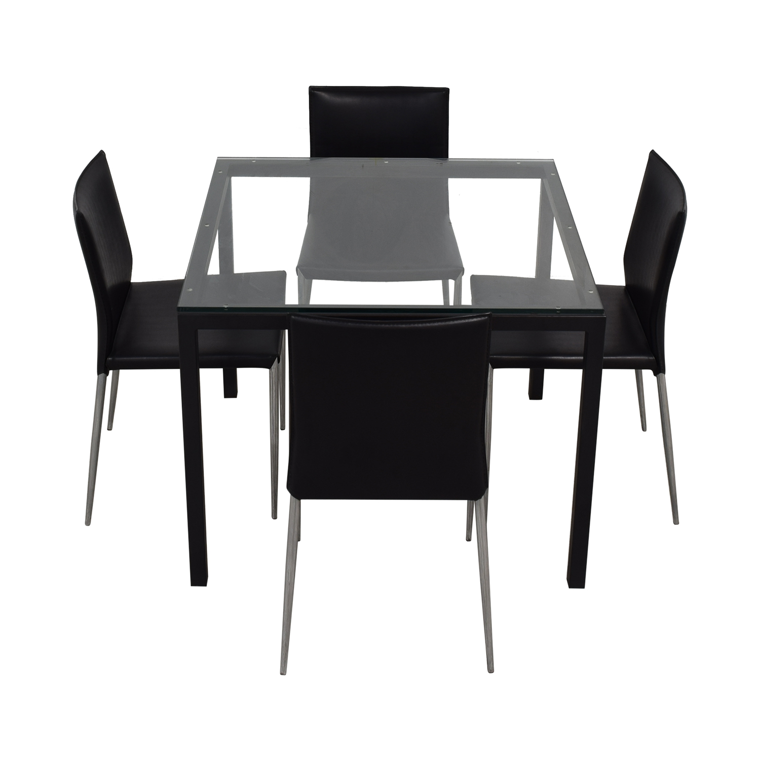 Room & Board Parsons Dining Set with Hirsch Leather Chair sale