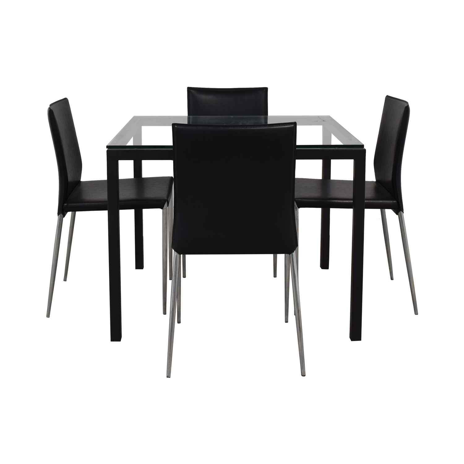 Room & Board Parsons Dining Set with Hirsch Leather Chair / Tables