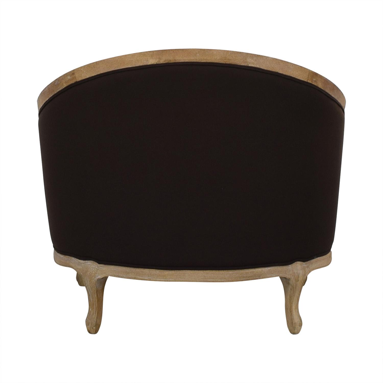 Ballard Designs Ballard Designs Sofia Distressed Brown Upholstered Accent Chair Brown