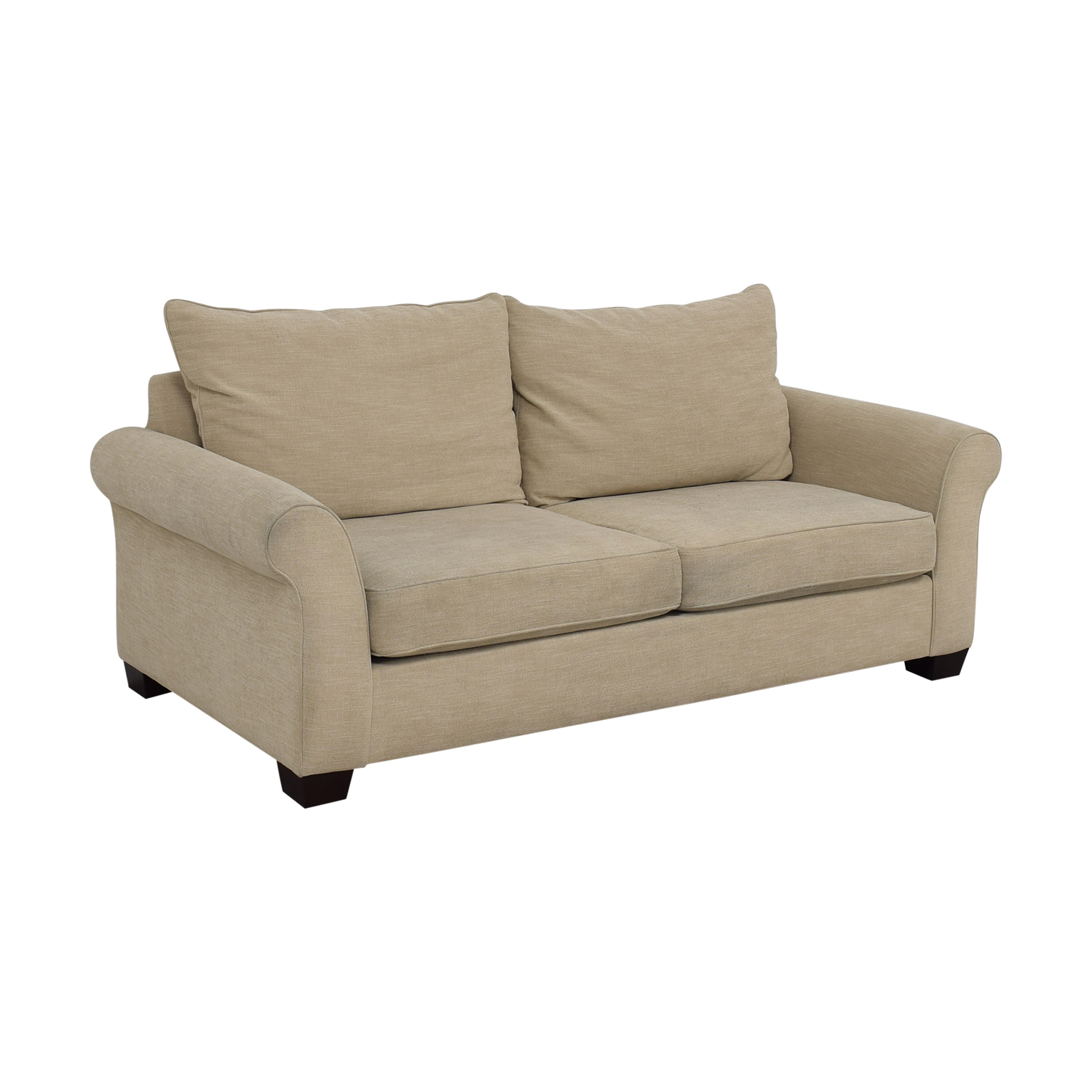 Pottery Barn Grey Roll Arm Upholstered Couch / Sofas