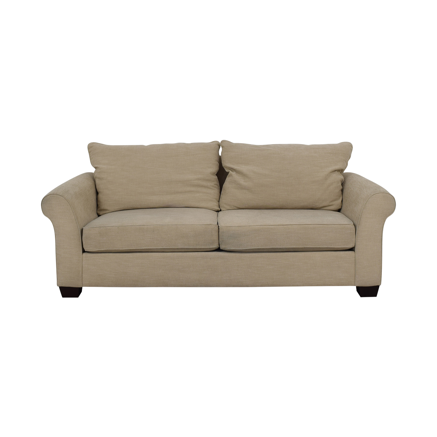buy Pottery Barn Pottery Barn Grey Roll Arm Upholstered Couch online