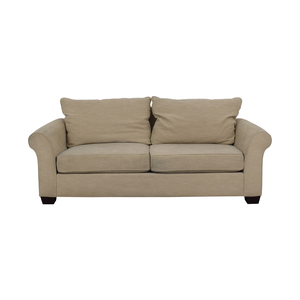 shop Pottery Barn Pottery Barn Grey Roll Arm Upholstered Couch online
