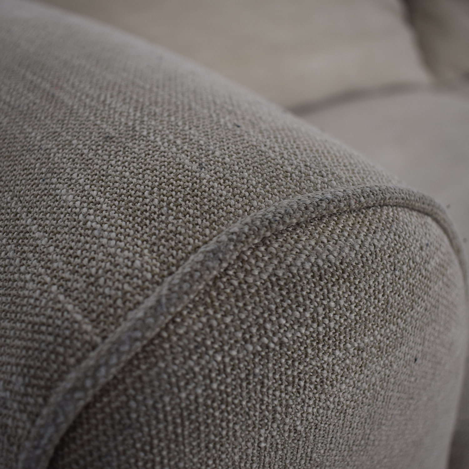 Pottery Barn Pottery Barn Grey Roll Arm Upholstered Couch price