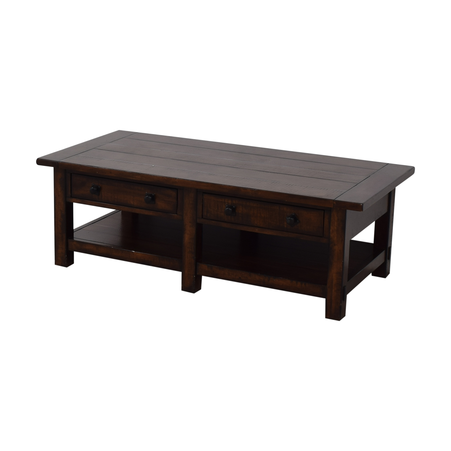 buy Pottery Barn Benchwright Two-Drawer Coffee Table Pottery Barn Tables