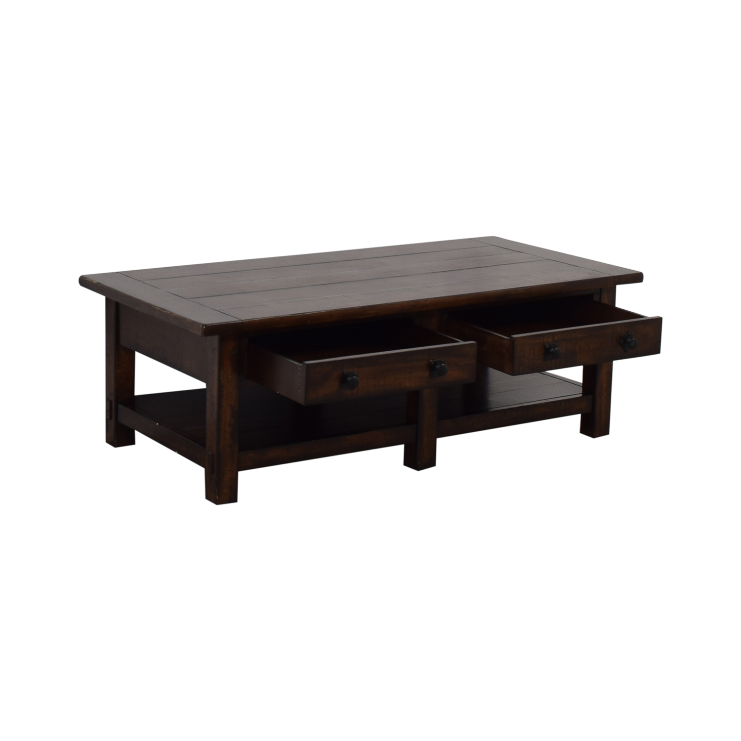 buy Pottery Barn Pottery Barn Benchwright Two-Drawer Coffee Table online
