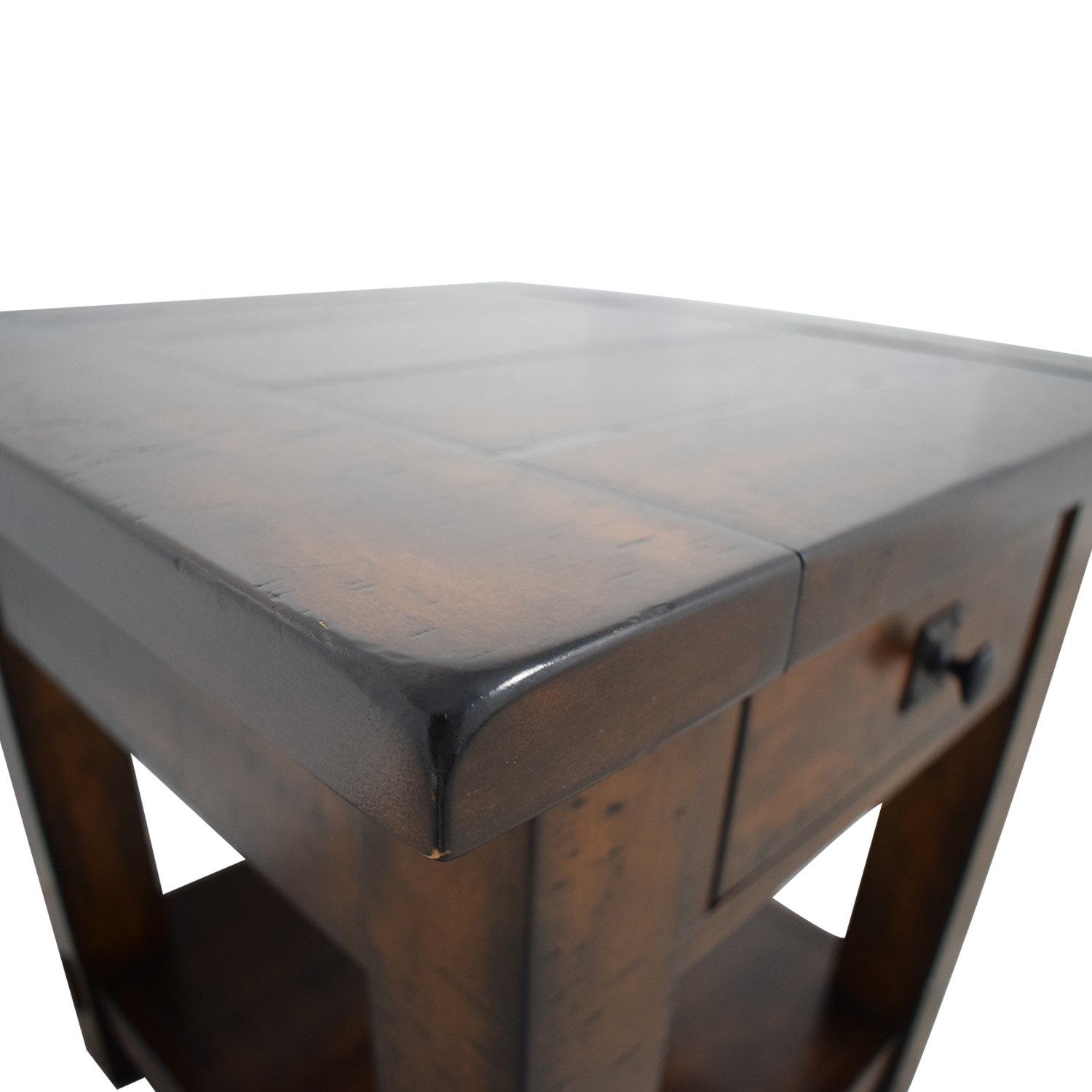 buy Pottery Barn Benchwright Single Drawer Side Table Pottery Barn End Tables