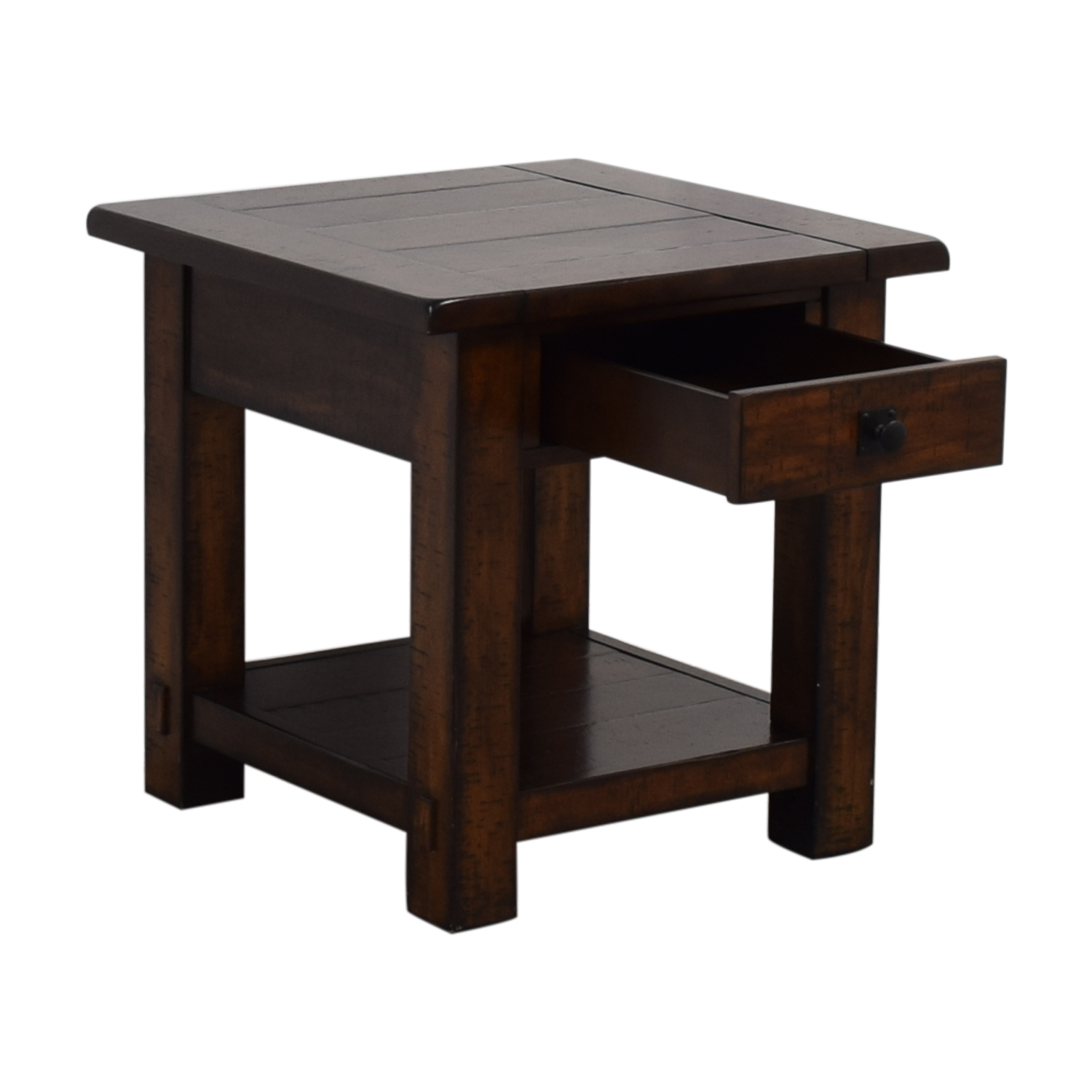 Pottery Barn Benchwright Single Drawer Side Table / Tables