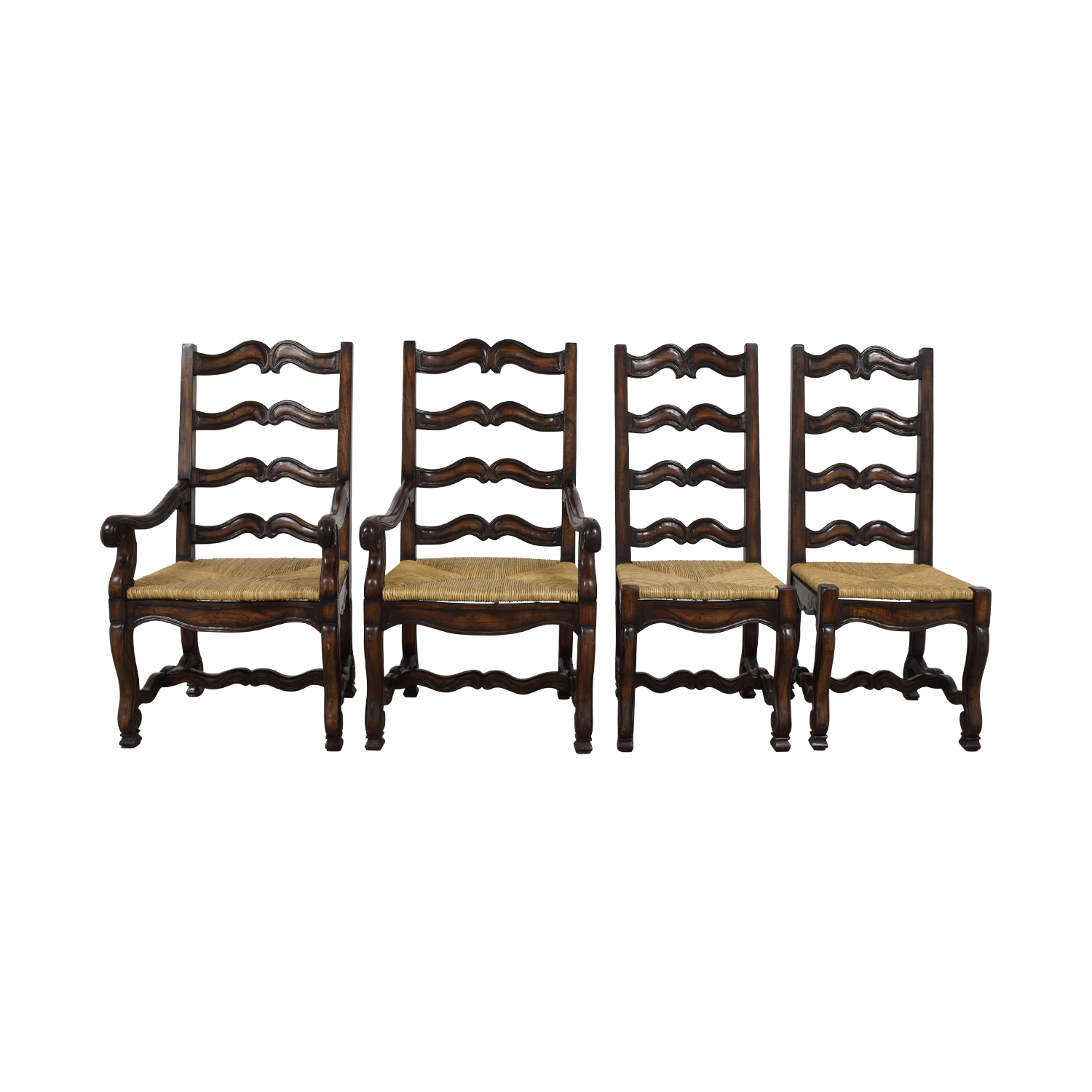 Ambella Home Ambella Home Wood and Straw Dining Chairs Brown, Beige
