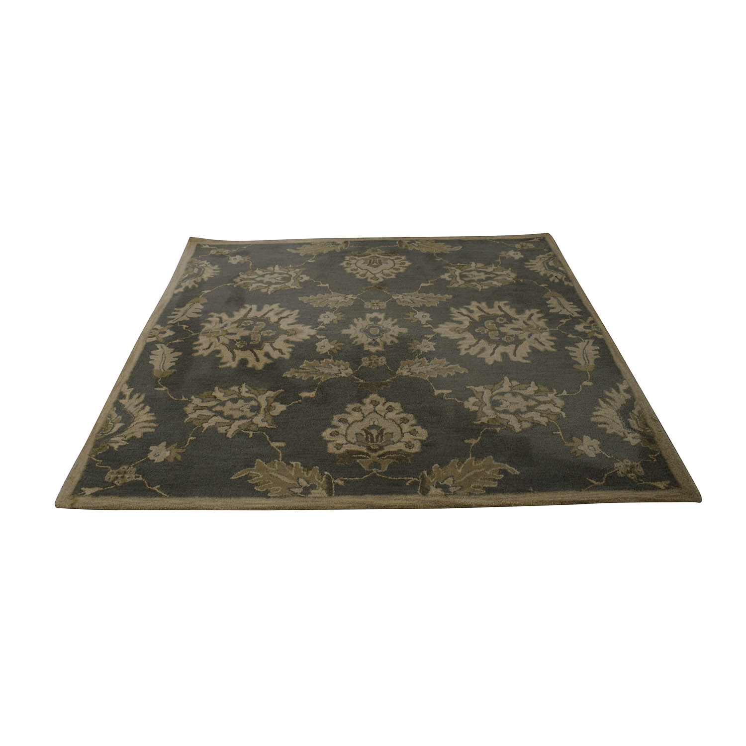 Surya Surya Basset Caesar Grey and Beige Rug for sale
