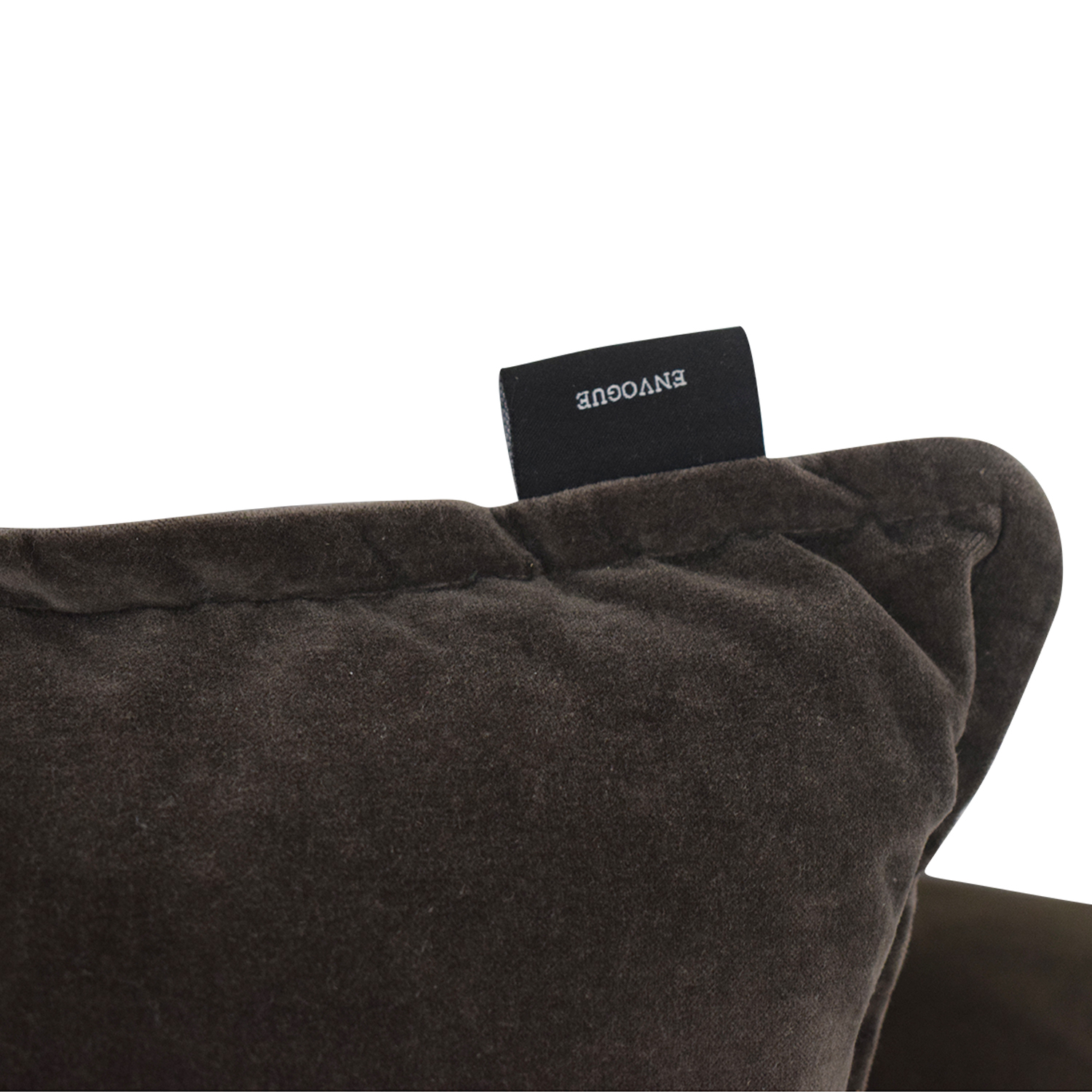 shop CB2 Brown Sofa with Two Throw Pillows CB2 Classic Sofas