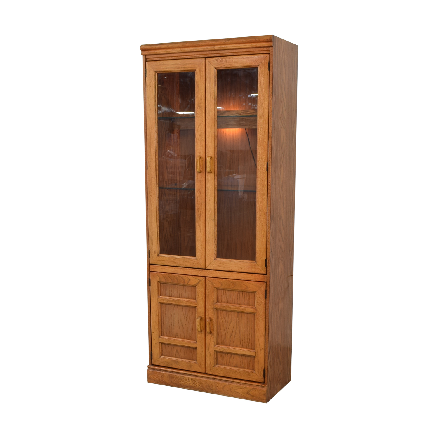 Strange 90 Off Macys Wood And Glass China Cabinet Storage Download Free Architecture Designs Intelgarnamadebymaigaardcom